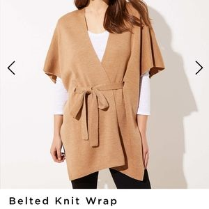 BELTED KNIT WRAP